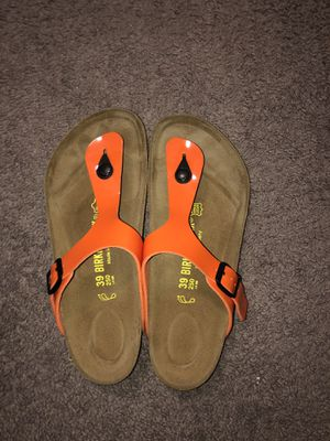 Birkenstock Thong Orange Sandals for Sale in Columbus, OH