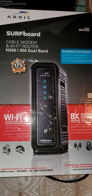 Arris internet modem. Works with Xfinity and Cox internet. for Sale in Fort Washington, MD
