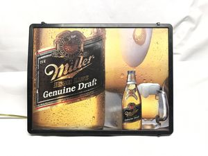 MILLER Genuine DRAFT Beer Co. POOLHOUSE POOL TABLE SIGN LED NEON LIGHT UP for Sale in Chicago, IL
