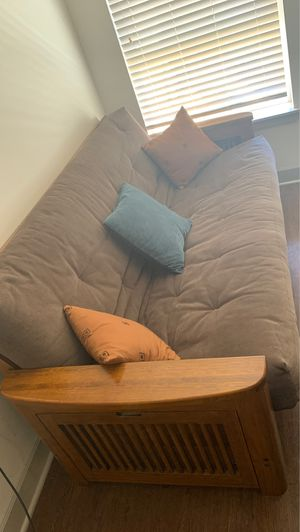 Wooden frame Futon Couch for Sale in Englewood, CO