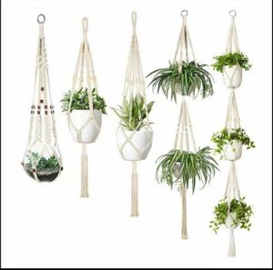 Macrame plant hanger set of 5, planter, pothos, boho for Sale in Houston, TX