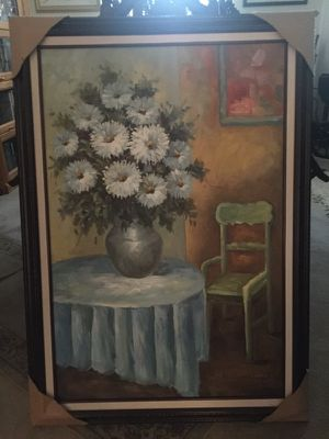 Beautiful Signed Canvas Flower Painting for Sale in Pittsburgh, PA