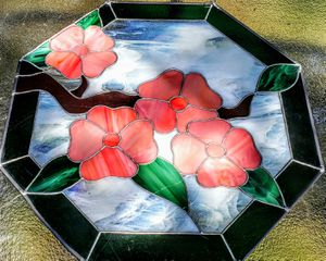 Mock Stained Glass Picture for Sale in Canton, GA