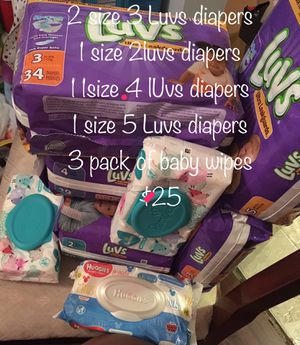 Multiple size (2,3.4,5) diaper bundle for Sale in Durham, NC