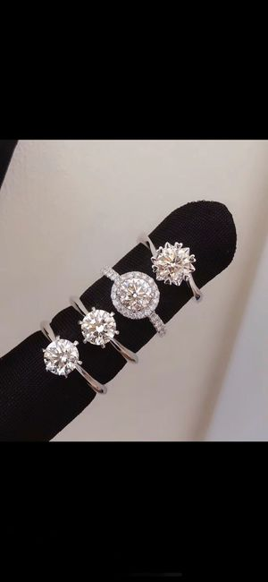 Custom - real 18K engagement VVS1 moissonite diamond ring for Sale in Lawndale, CA