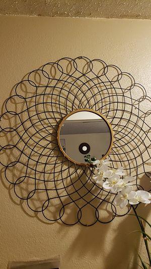 XL Wall flower mirror for Sale in San Bernardino, CA