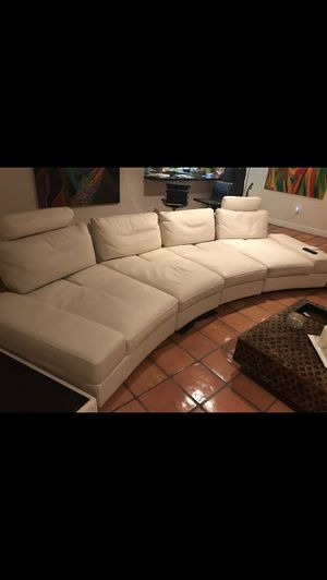 Living room sectional/White leather sectional/leather sofa/leather couch/loveseat/sectional/ for Sale in Pembroke Park, FL