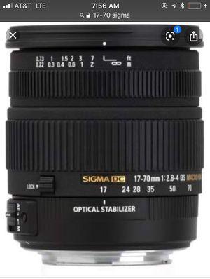 Sigma 17-70 for Sale in Mount Rainier, MD