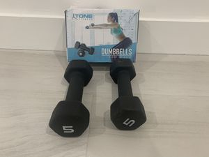 Dumbbells New 10bs set for Sale in Miami, FL