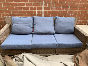 Patio Furniture 2 chairs and couch w/Duck Covers $300.00 OBO for Sale in Washington, DC
