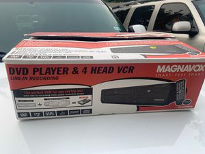 DVD player & 4 head vcr for Sale in Garland, TX