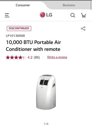LG Portable AC Air Conditioner, Dehumidifier, Fan with remote for Sale in Los Angeles, CA