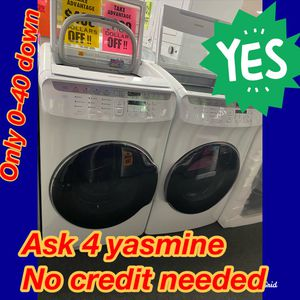 Samsung flex💕washer dryer 💕 OPEN SUNDAY💕 buy now pay later 💕 we accept itin 🌛only 0-40$ down 💒no credit needed 💒 ask 4 yasmine 4 discount for Sale in Riverside, CA