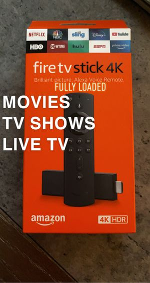 Fire TV 4K Stick With Alexa Voice Remote 2020 for Sale in Waterbury, CT