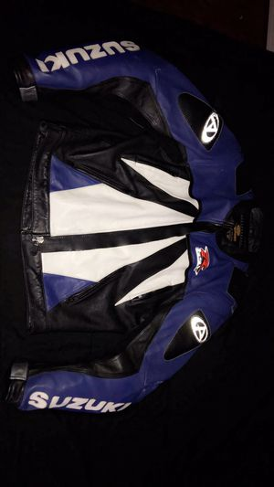 Leather Suzuki Motorcycle Jacket for Sale in Riverside, CA