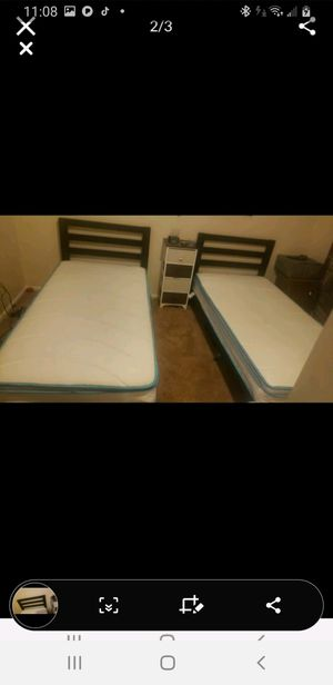 Black metal twin bed for Sale in Denver, CO