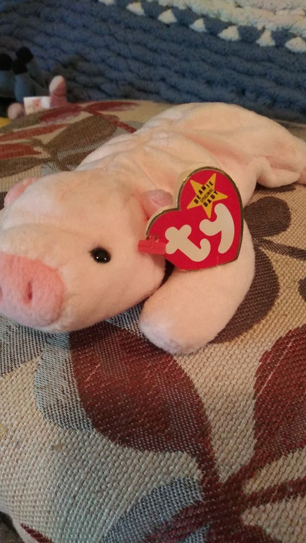 Ty Beanie Babie Squealer the pig