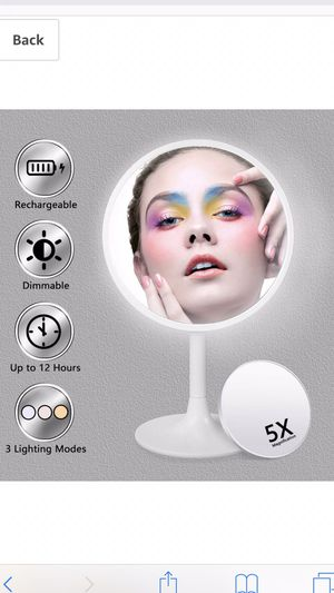 Lighted makeup mirror for Sale in White Marsh, MD