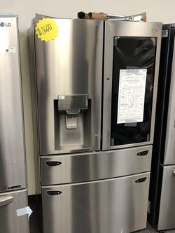 New LG Instaview 4 Door French Door Refrigerator for Sale in Arlington,  TX