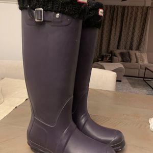 Hunter women's original tall rain boots for Sale in Decatur, GA