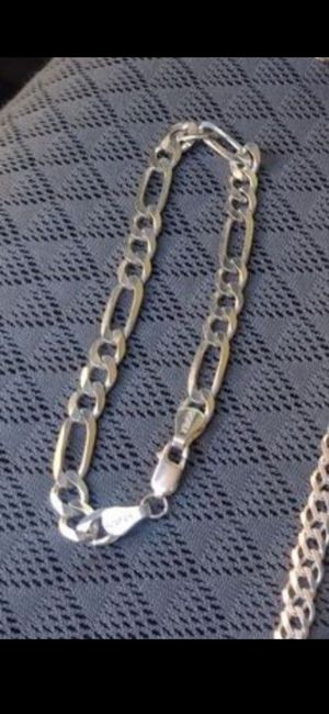 Plata .925 real bracelet,chain and 2 charms for Sale in Phoenix, AZ