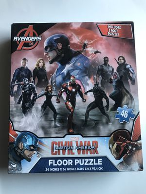 BRAND NEW CAPTAIN AMERICA CIVIL WAR FLOOR PUZZLE for Sale in Torrance, CA