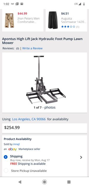 New Hydraulic Foot Pump Lawn Mower for Sale in Artesia, CA