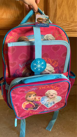 Brand new Frozen Elsa and Anna backpack w/ lunchable & a frozen folder $15firm for Sale in Laveen Village, AZ