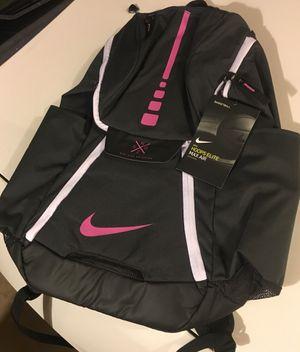 Nike elite hoops backpack max air dark grey pink new for Sale in San Bernardino, CA