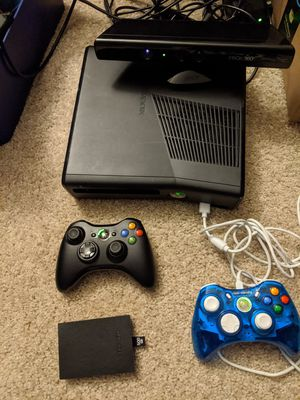 Xbox 360 Bundle with 2 controllers and 19 games for Sale in Kennewick, WA