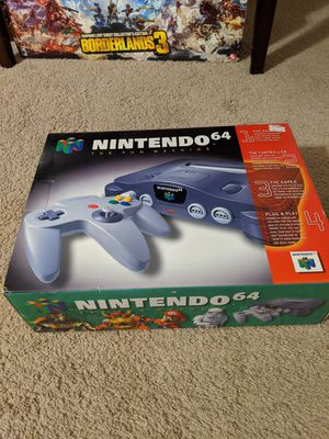 Nintendo 64 Mario 64 in box great shape for Sale in Davidson, NC
