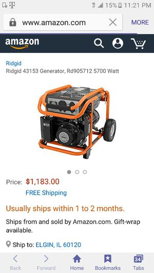 Generator Ridgid for Sale in Dearborn, MI