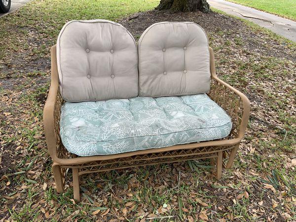 Rocking love seat, indoor/outdoor