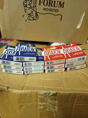This is for all 13 packs of Aviator poker size playing card decks for Sale in Cypress, CA