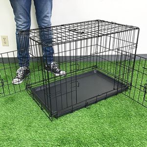 "Brand New $35 Folding 30"" Dog Cage 2-Door Folding Pet Crate Kennel w/ Tray 30""x18""x20"" for Sale in Santa Fe Springs, CA"