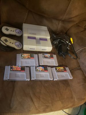 Super Nintendo with 5 games for Sale in Holiday, FL