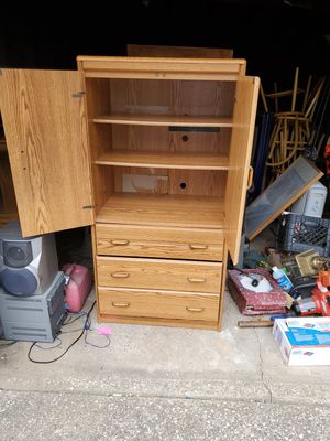3 drawer and 2 shelf dresser/cabinet for Sale in Cleveland, OH