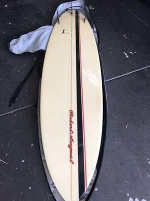 """Robert August Surfboard 7'8"""" with case for Sale in Costa Mesa, CA"""