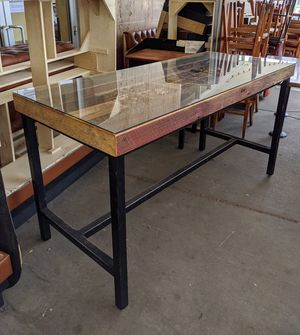 Unique Handmade Steel, Glass and Wood Hightop Table for Sale in Denver, CO