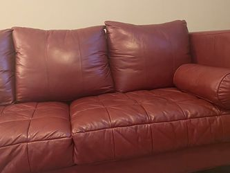 Red Leather Couch for Sale in Nashville,  TN