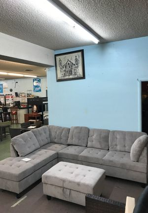 Sectional with Storage Ottoman No credit financing available for Sale in North Highlands, CA
