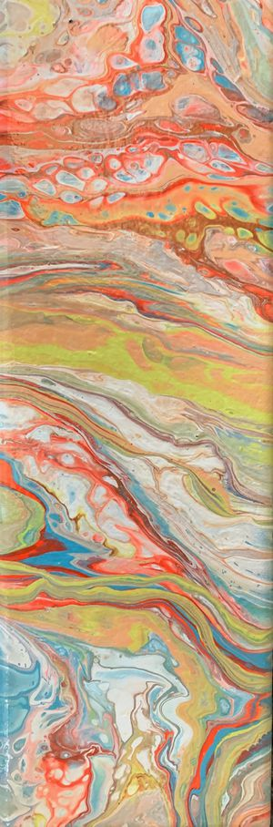"""""""Jawbreaker"""" fluid art abstract painting on canvas for Sale in Palo Alto, CA"""