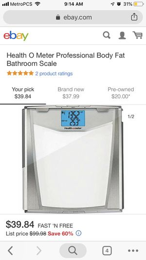 Health O Meter professional body fat scale for Sale in Riverside, CA