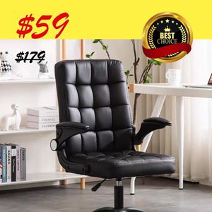 $59 - Black Leatherette Adjustable Swivel Office Chair for Sale in El Monte, CA