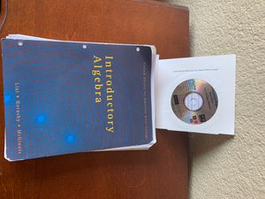 Introductory Algebra custom edition for American River College with chapter test prep video cd for Sale in Sacramento, CA