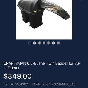 6.5 Bushel Twin bagger for 36 in tractor for Sale in Las Vegas, NV