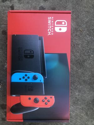 Nintendo Switch with Neon Blue and Neon Red Joy‑Con (Newest Model - V2) IN HAND for Sale in Rockville, MD