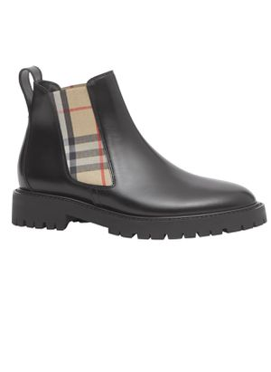 Authentic Burberry Allostock Check Chelsea Boots size 38 for Sale in Fontana, CA