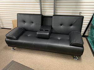 🌈🔥FUTON SOFA BED BLACK PU LEATHER🛋🛌 for Sale in Aventura, FL