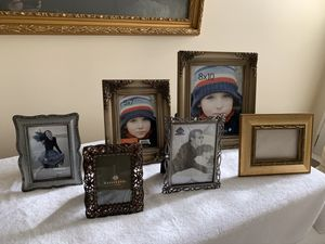 Assorted pictures frames ranging from 4x6 to 8x10. for Sale in Simpsonville, SC